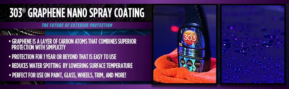 303 graphene nano spray, nano coating, ceramic, sealant, touchless, paint, exterior, auto, detail