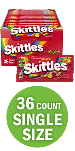 SKITTLES Original Candy Singles Size