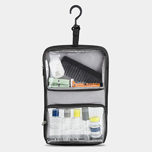 Travelon WetDry 1 Quart Bag With Plastic Bottles