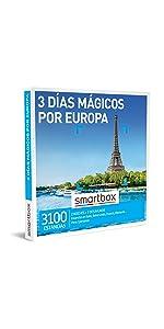 3 días mágicos por Europa caja regalo Smartbox