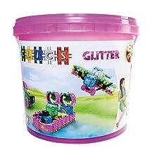 Clics Eimer 15in1 Konstruktion Bausteine Roller Box 377 Teile Geschenk Spielzeug Bau- & Konstruktionsspielzeug-Sets