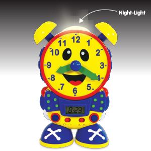 real clock, alarm clock, night light