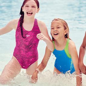 Speedo Girls Boom Allover Splashback Swimsuit Amazoncouk Sports