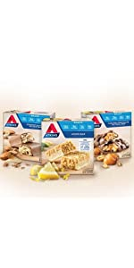 Atkins, high protein, low carb, low sugar, nutritional bars, snack bars