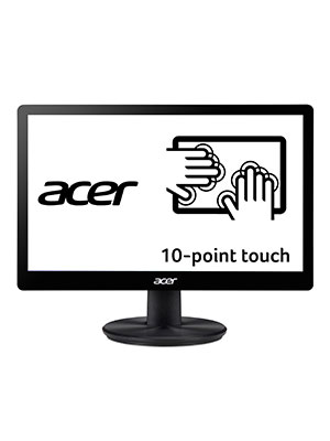 """Acer PT167Q B 15.6"""" (1366 x 768) 10 Point Touch Monitor (VGA and USB Port)"""