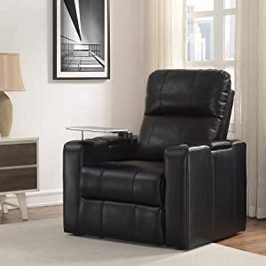 Beau Larson Power Home Theatre Recliner Blanch Black