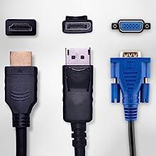 DisplayPort, HDMI, VGA