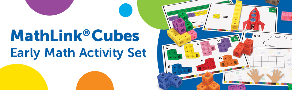 Learning Resources Early Math Mathlink Cube Activity Set, Assorted Colors, 115 Pieces, Ages 4+