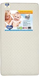 crib mattress toddler infant baby bed nursery furniture waterproof delta children