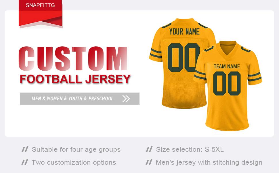 SNAPFITTG Custom Football Jersey