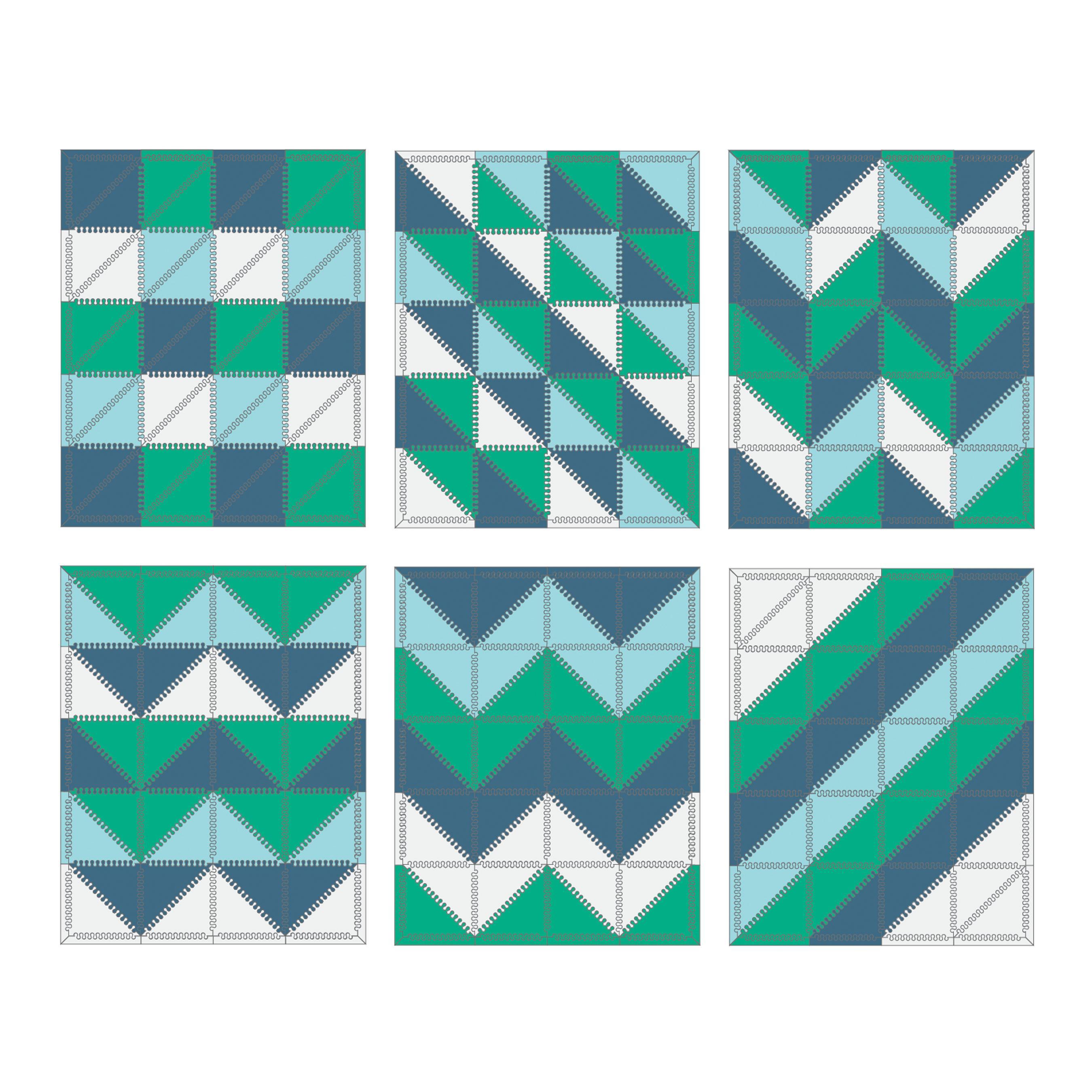 Amazon.com : Skip Hop Geo Playspot Foam Floor Tiles, Blue/Green : Baby