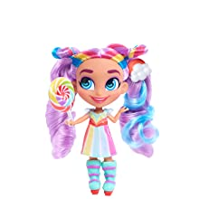 hairdorables, youtube show, collectible doll, rayne, rainbow hair, purple hair