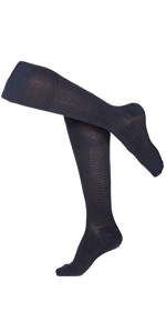 Argyle Navy TOUCH Compression Socks for Men 15-20 mmHg X-Large Cotton 1 Pair