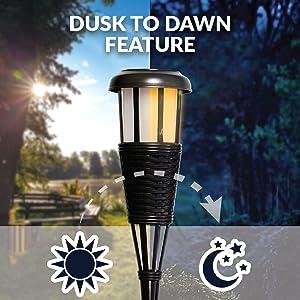 torch lights, flickering solar lights