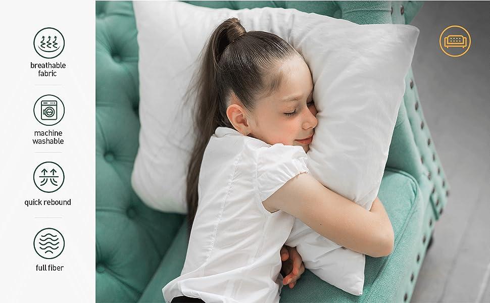 26x26 pillows inserts, soft pillows, 12x20 pillows inserts