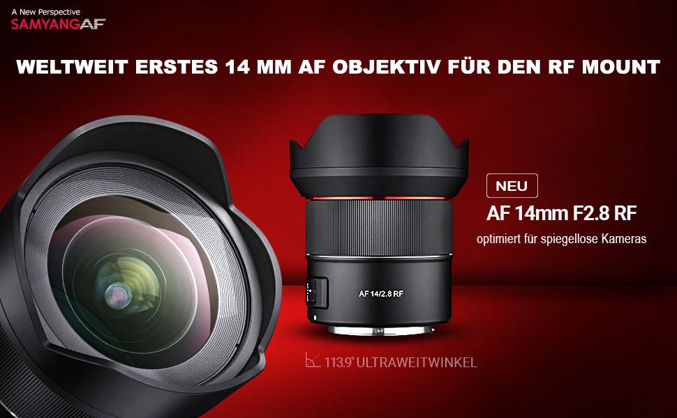Samyang Af 14mm F2 8 Rf Autofokus Ultraweitwinkel Kamera