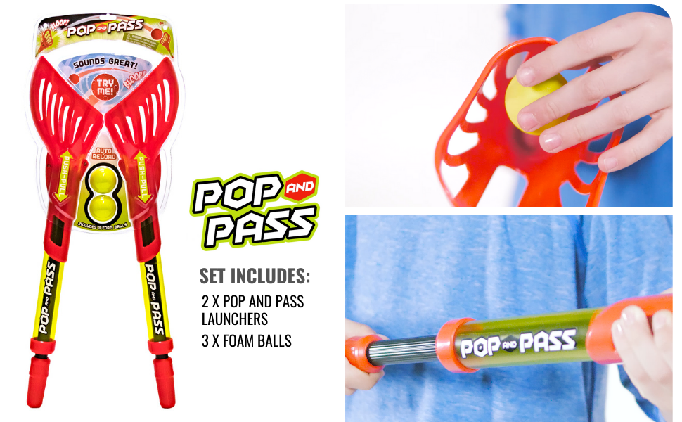 Hog Wild, Toys, Pop and Pass, Outdoor Game, Backyard, Beach, Launch, Throw, Catch, Active, Play, Fun