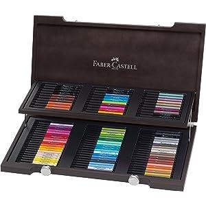 Faber-Castell 167150 - Estuche estudio con 60 rotuladores Pitt punta de pincel, multicolor: Amazon.es: Oficina y papelería