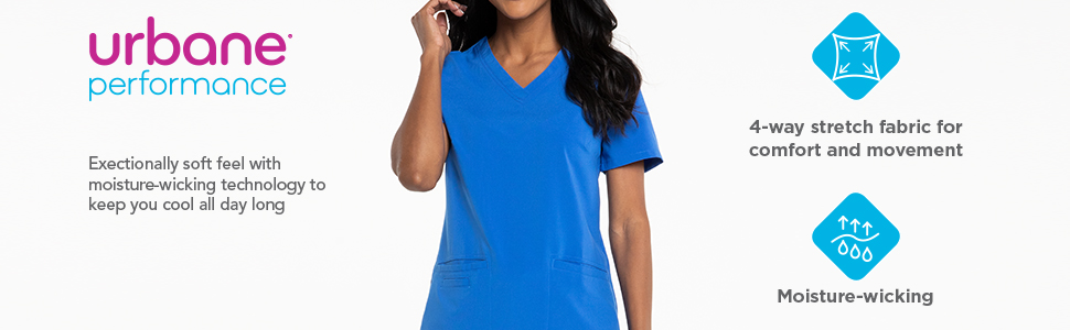 4e1b7faa56c Amazon.com: Urbane Women's Performance Renew Four Pocket Scrub Top ...