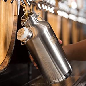 Growler with Beer