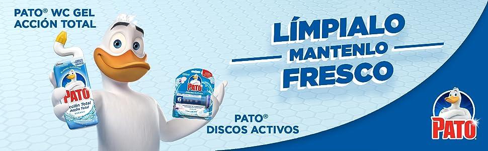 Pato - WC Power Lejía Marine, Limpiador Quitamanchas para Inodoro - 750 ml