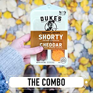 Duke's Shorty Sausages + Cheese – Gluten Free and Keto Snacks