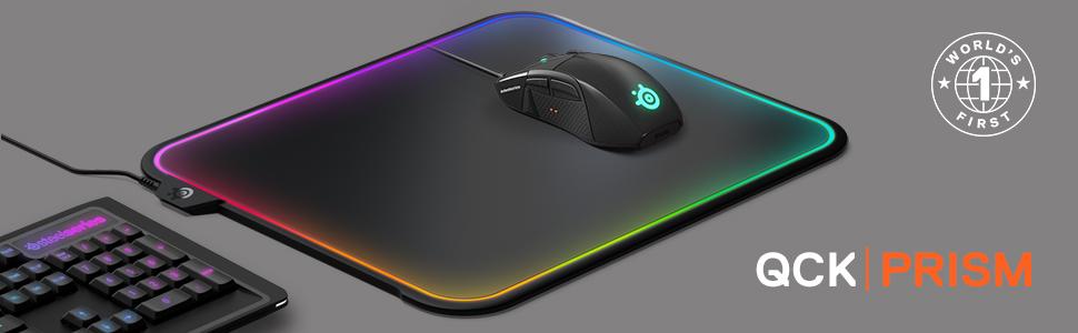 Resultado de imagem para Mouse Pad Steelseries QCK PRISM RGB