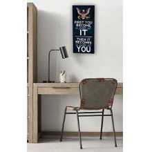 First You Become Navy Wall Sign