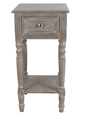 side table;end table;night stand;accent table;decorative table;one drawer end table;one drawer table