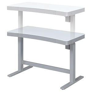 Electric Adjustable Height Standing Desk, White