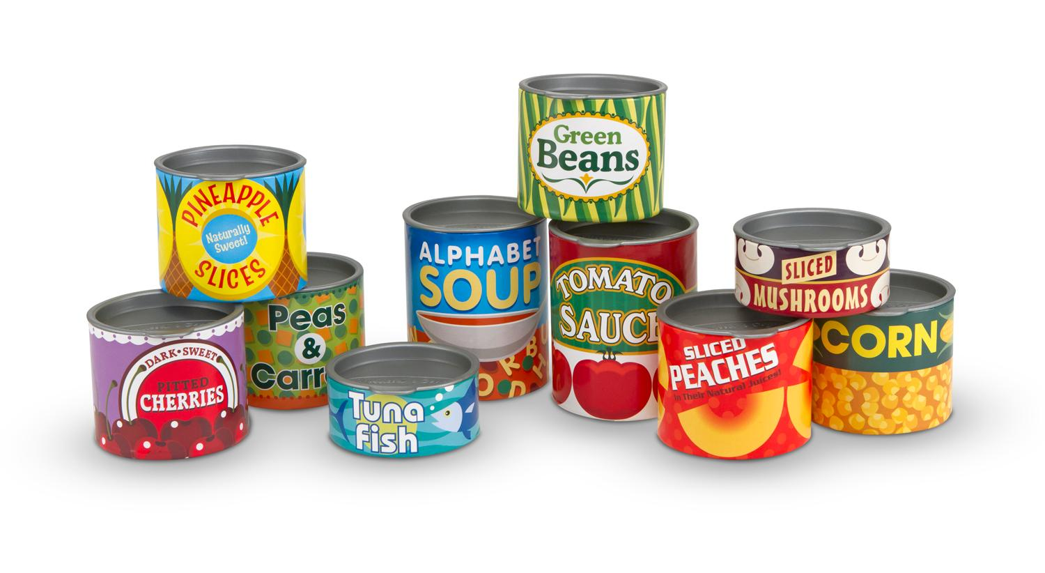 Amazon.com: Melissa & Doug Let's Play House! Grocery Cans ...