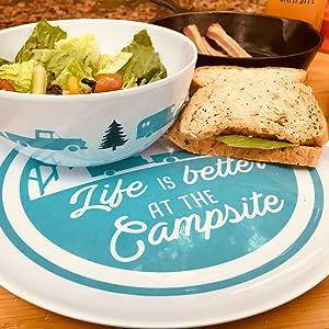 plates;camping plate;rv plates;bowl;food bowl