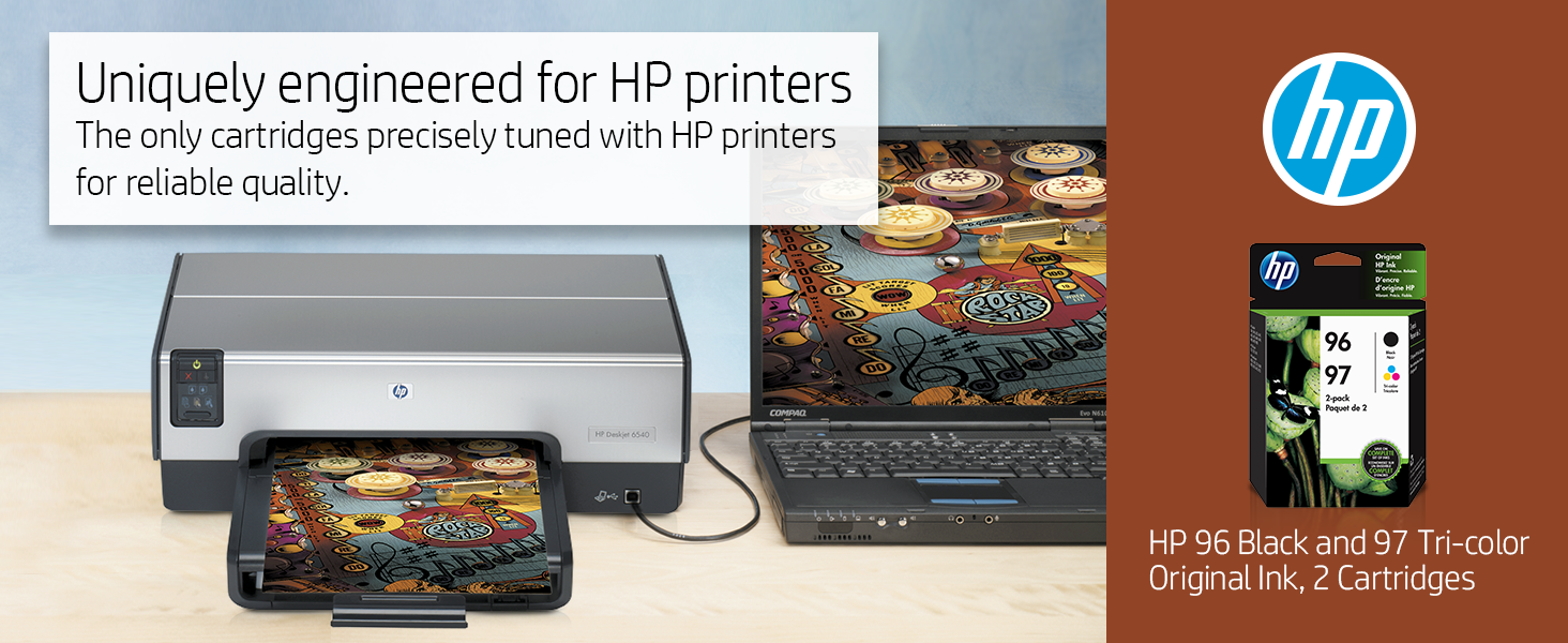 Amazon.com: HP 96 cartuchos de tinta negra y 97 de tres ...