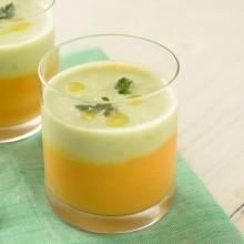 オーガニック豆乳の冷製ポタージュスープ