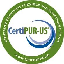 CertiPUR-US logo; certified; logo; foam