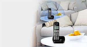 Panasonic KX-TGE310SPB- Teléfono Fijo Inalámbrico (LCD Grande, Teclas Grandes, Agenda de 50 Números, Bloqueo de Llamadas, Modo ECO, Compatible con Audífonos): BLOCK: Amazon.es: Electrónica