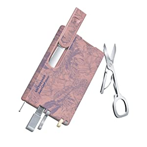 Swiss card innovation new SAK style swiss army knife with scissors in pink