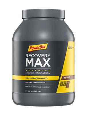 PowerBar Recovery Max Chocolate 1144g - Bebida de Suero de Leche de Regeneración con Carbohidratos + Magnesio y Zinc