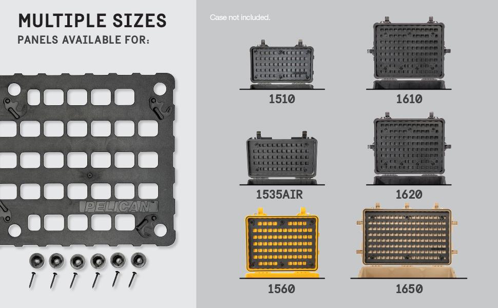 Pelican EZ-Click Molle Panel Multiple Sizes