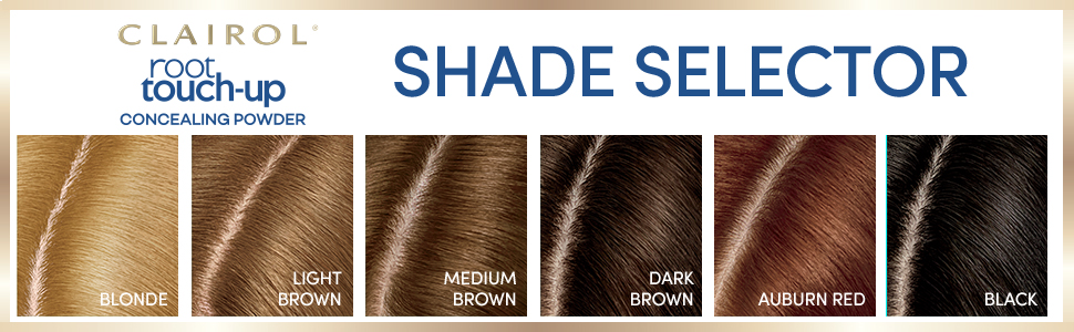 Clairol Root Touch Up Shade selector