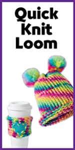 Quick Knit Loom, Loom knitting, girls craft, craft kit, creativity for kids, knitting, rainbow