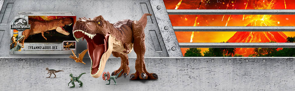 ¡El Tyrannosaurus Rex Supercolosal de Jurassic World está listo para vivir aventuras descomunales!