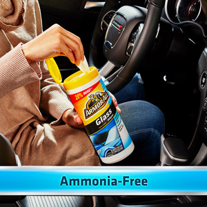 Ammonia-free formula is safe on auto glass and tinted glass when used as directed