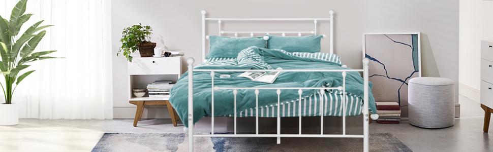 bed frame white