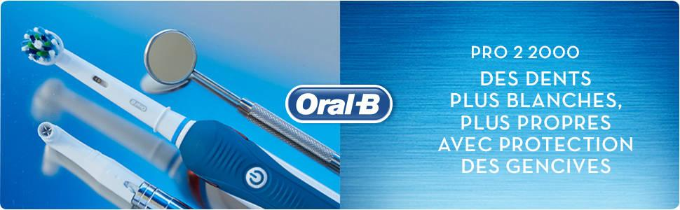 oral b elec pro 2 2000n crossaction brosse dents lectrique hygi ne et soins du corps. Black Bedroom Furniture Sets. Home Design Ideas