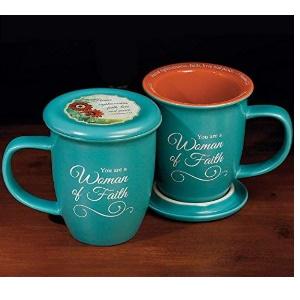Woman of Faith Mug and Coaster Set