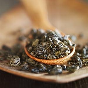 numi organic gunpowder green tea loose leaf leaves iced tea cold brew hot pearls antioxidants honey