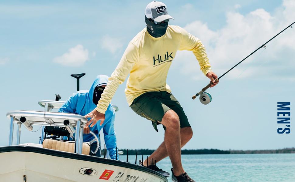 HUK Mens Fishing Outdoor Waterproof Gunwale Rain Jacket