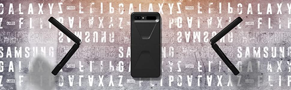 Urban Armor Gear Civilian Hülle Samsung Galaxy Z Flip Schutzhülle Wireless Charging Kompatibles Cover Sturzfeste Handyhülle Ultra Slim Bumper Schwarz Elektronik