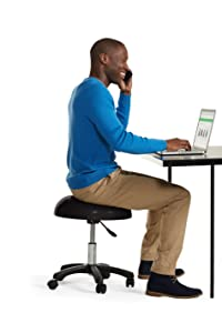 Amazon Com Gaiam Adjustable Balance Ball Stool Stability